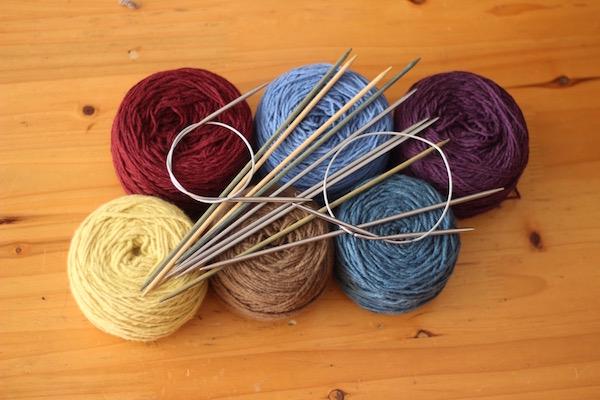 Rocking Yak yarn and some knitting needles